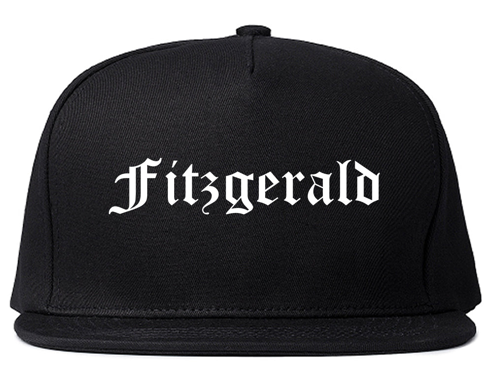Fitzgerald Georgia GA Old English Mens Snapback Hat Black