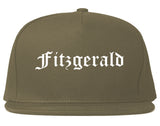 Fitzgerald Georgia GA Old English Mens Snapback Hat Grey