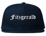 Fitzgerald Georgia GA Old English Mens Snapback Hat Navy Blue