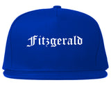 Fitzgerald Georgia GA Old English Mens Snapback Hat Royal Blue