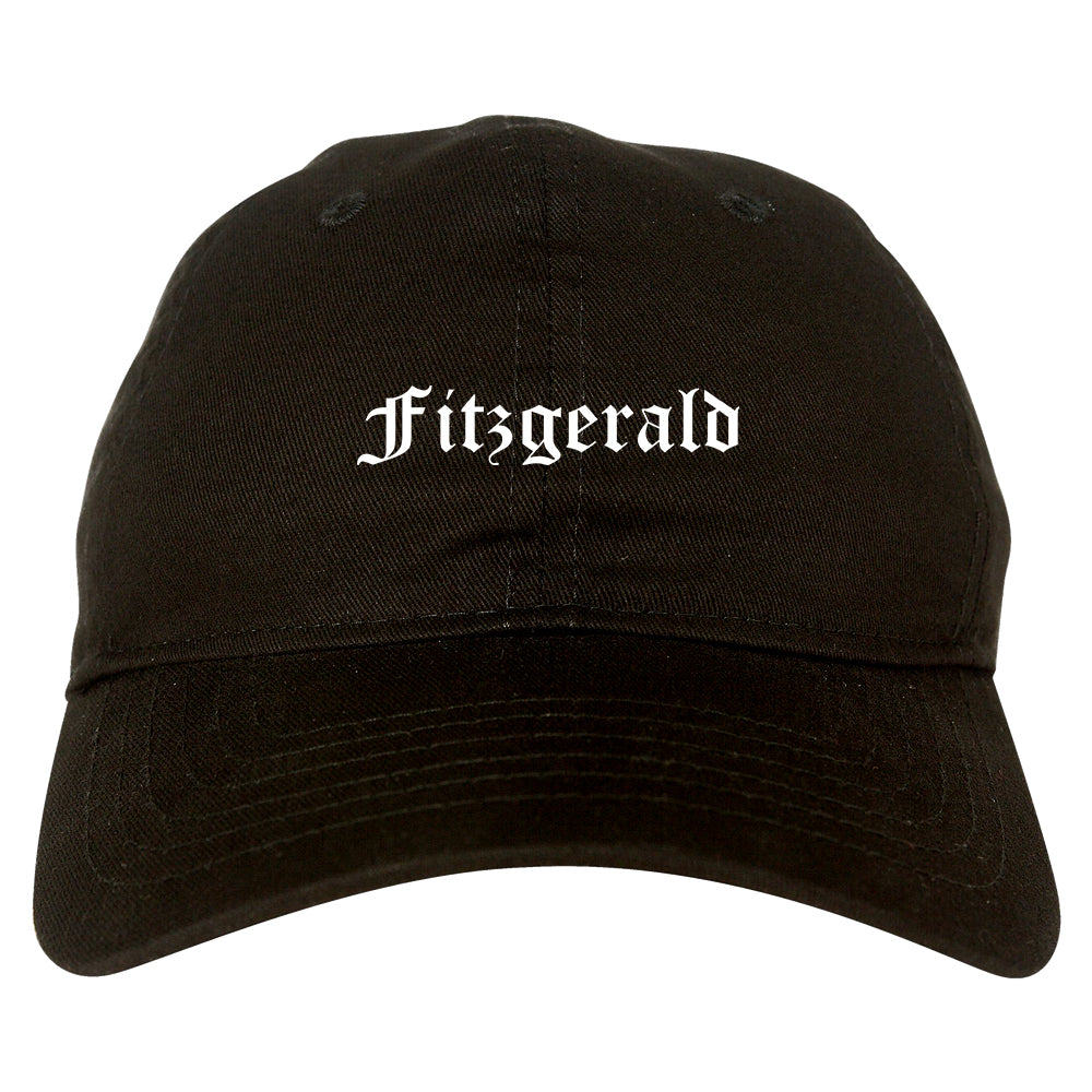 Fitzgerald Georgia GA Old English Mens Dad Hat Baseball Cap Black