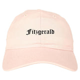 Fitzgerald Georgia GA Old English Mens Dad Hat Baseball Cap Pink