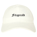 Fitzgerald Georgia GA Old English Mens Dad Hat Baseball Cap White