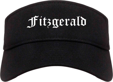 Fitzgerald Georgia GA Old English Mens Visor Cap Hat Black