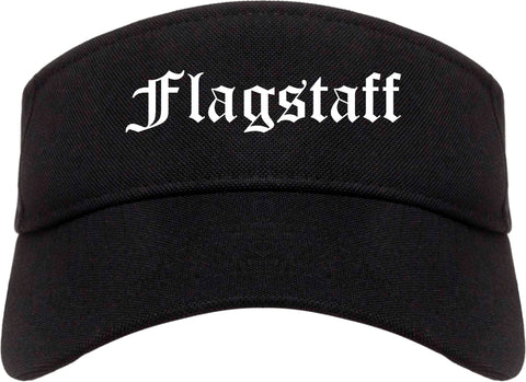 Flagstaff Arizona AZ Old English Mens Visor Cap Hat Black