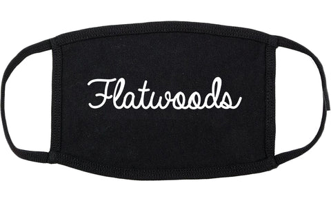 Flatwoods Kentucky KY Script Cotton Face Mask Black