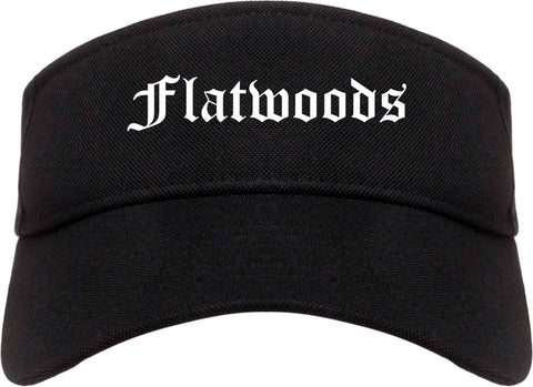 Flatwoods Kentucky KY Old English Mens Visor Cap Hat Black