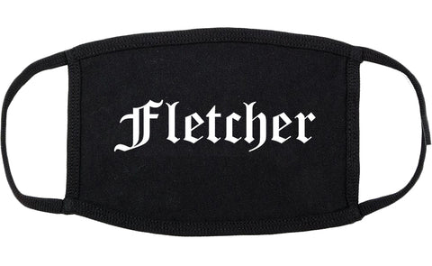 Fletcher North Carolina NC Old English Cotton Face Mask Black