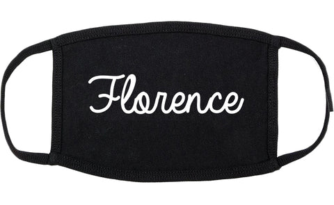 Florence Kentucky KY Script Cotton Face Mask Black