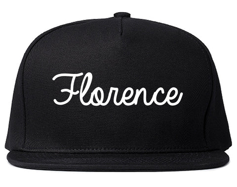 Florence Oregon OR Script Mens Snapback Hat Black