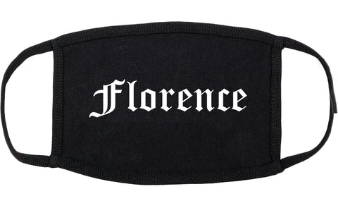 Florence South Carolina SC Old English Cotton Face Mask Black