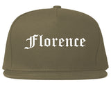 Florence South Carolina SC Old English Mens Snapback Hat Grey
