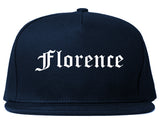 Florence South Carolina SC Old English Mens Snapback Hat Navy Blue