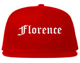 Florence South Carolina SC Old English Mens Snapback Hat Red
