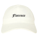 Florence South Carolina SC Old English Mens Dad Hat Baseball Cap White