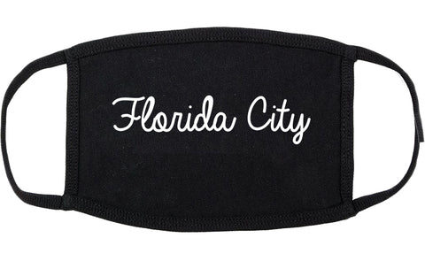 Florida City Florida FL Script Cotton Face Mask Black