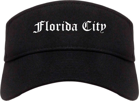 Florida City Florida FL Old English Mens Visor Cap Hat Black