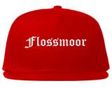 Flossmoor Illinois IL Old English Mens Snapback Hat Red