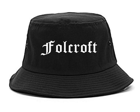 Folcroft Pennsylvania PA Old English Mens Bucket Hat Black