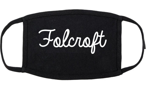 Folcroft Pennsylvania PA Script Cotton Face Mask Black