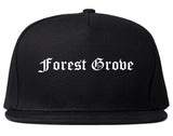 Forest Grove Oregon OR Old English Mens Snapback Hat Black