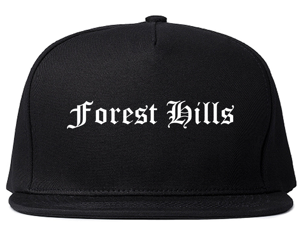 Forest Hills Pennsylvania PA Old English Mens Snapback Hat Black