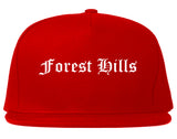 Forest Hills Pennsylvania PA Old English Mens Snapback Hat Red