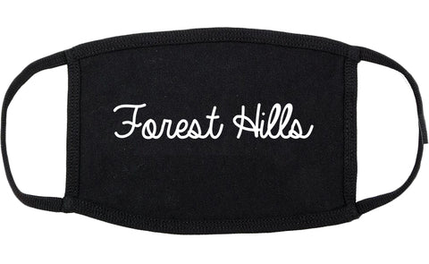 Forest Hills Pennsylvania PA Script Cotton Face Mask Black
