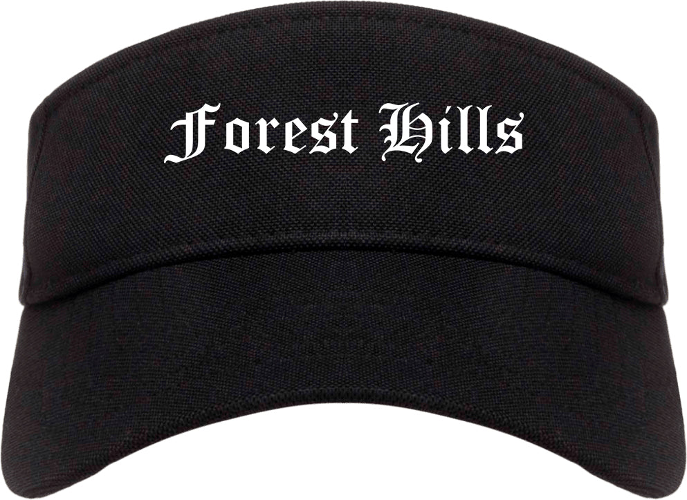 Forest Hills Pennsylvania PA Old English Mens Visor Cap Hat Black