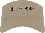Forest Hills Pennsylvania PA Old English Mens Visor Cap Hat Khaki