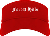 Forest Hills Pennsylvania PA Old English Mens Visor Cap Hat Red