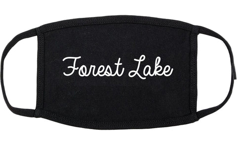 Forest Lake Minnesota MN Script Cotton Face Mask Black