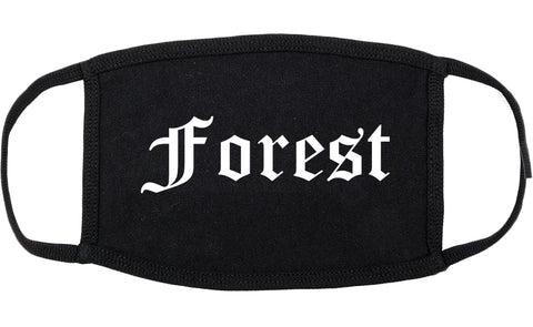 Forest Mississippi MS Old English Cotton Face Mask Black