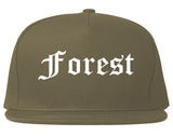 Forest Mississippi MS Old English Mens Snapback Hat Grey