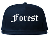 Forest Mississippi MS Old English Mens Snapback Hat Navy Blue