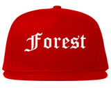 Forest Mississippi MS Old English Mens Snapback Hat Red