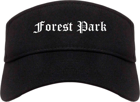 Forest Park Illinois IL Old English Mens Visor Cap Hat Black