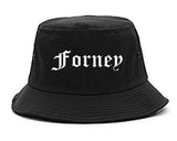 Forney Texas TX Old English Mens Bucket Hat Black