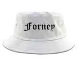 Forney Texas TX Old English Mens Bucket Hat White