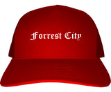 Forrest City Arkansas AR Old English Mens Trucker Hat Cap Red