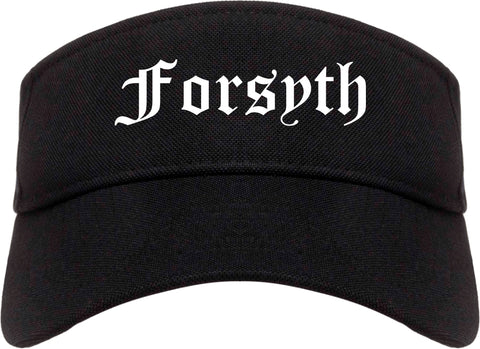 Forsyth Georgia GA Old English Mens Visor Cap Hat Black