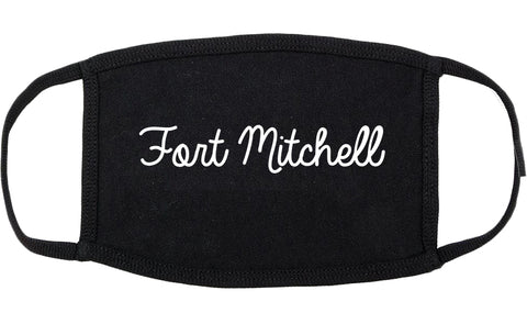 Fort Mitchell Kentucky KY Script Cotton Face Mask Black