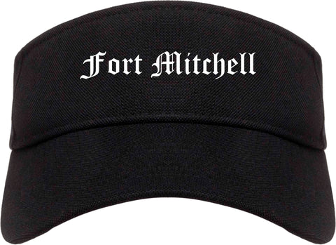 Fort Mitchell Kentucky KY Old English Mens Visor Cap Hat Black