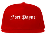 Fort Payne Alabama AL Old English Mens Snapback Hat Red