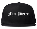 Fort Pierce Florida FL Old English Mens Snapback Hat Black