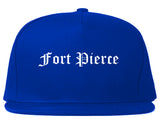 Fort Pierce Florida FL Old English Mens Snapback Hat Royal Blue