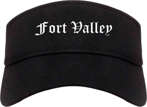 Fort Valley Georgia GA Old English Mens Visor Cap Hat Black