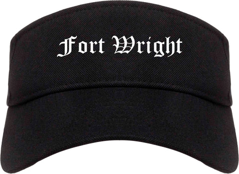 Fort Wright Kentucky KY Old English Mens Visor Cap Hat Black