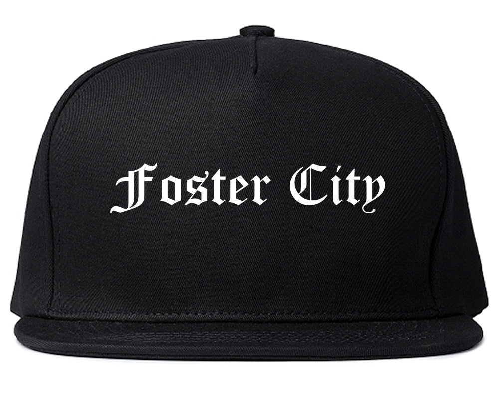 Foster City California CA Old English Mens Snapback Hat Black