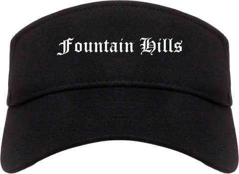 Fountain Hills Arizona AZ Old English Mens Visor Cap Hat Black